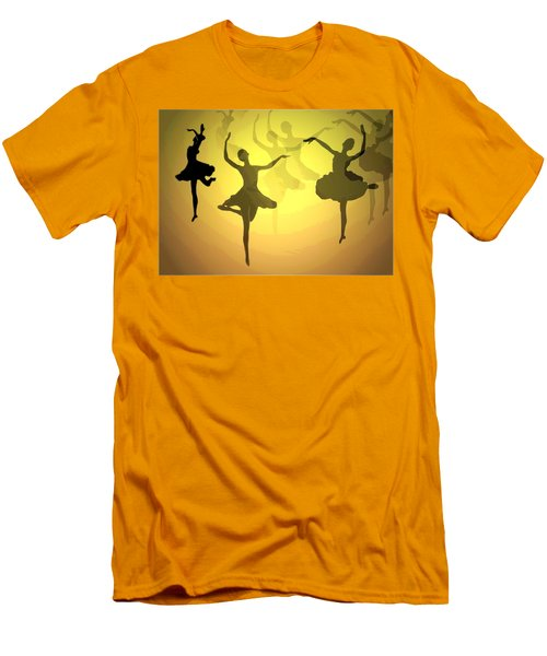 Men's T-Shirt (Slim Fit) featuring the photograph Dance With Us Into The Light by Joyce Dickens