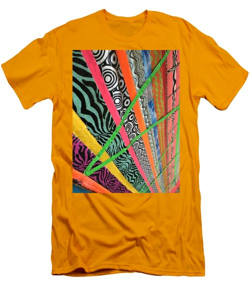 Dazzling Delirious Duct Tape Diagonals Men's T-Shirt (Slim Fit) by Douglas Fromm