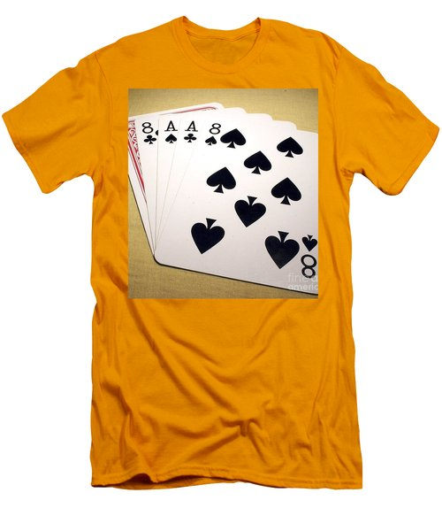 Men's T-Shirt (Slim Fit) featuring the photograph Dead Mans Hand by Pg Reproductions