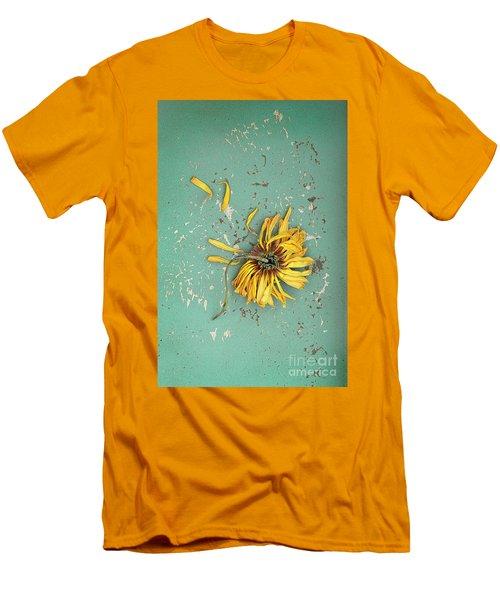 Men's T-Shirt (Slim Fit) featuring the photograph Dead Suflower by Jill Battaglia