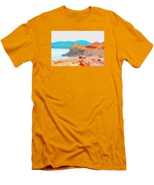 December's Shore Men's T-Shirt (Slim Fit) by Tobeimean Peter