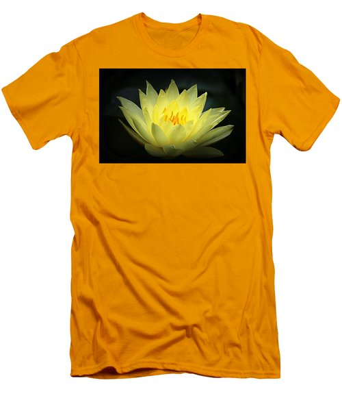 Delicate Water Lily Men's T-Shirt (Slim Fit) by Lori Seaman