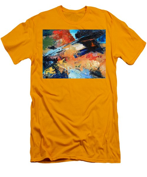 Men's T-Shirt (Slim Fit) featuring the painting Demo Sketch by Gary Coleman