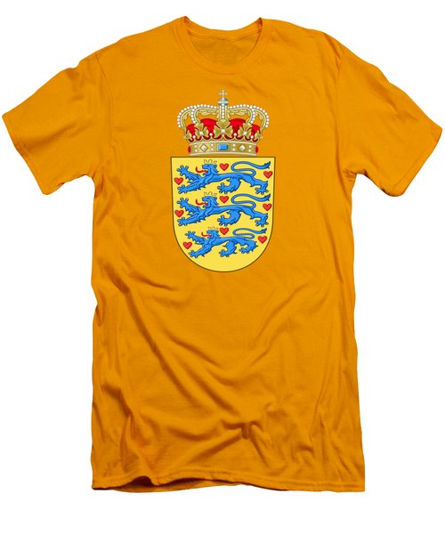 Denmark Coat Of Arms Men's T-Shirt (Slim Fit) by Movie Poster Prints