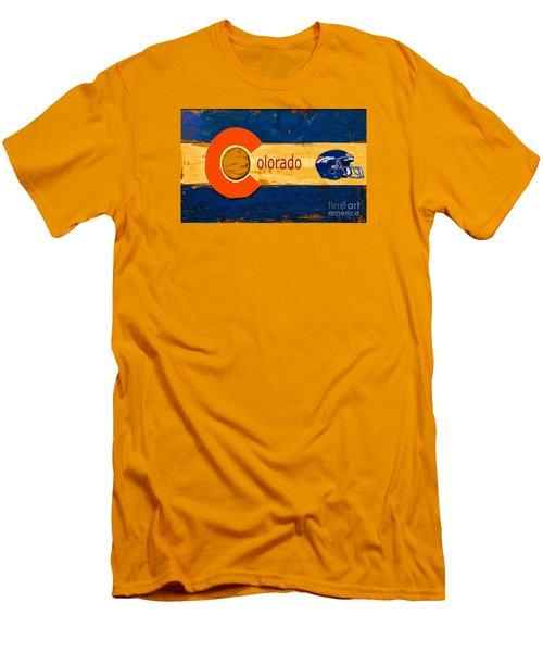 Denver Colorado Broncos 1 Men's T-Shirt (Athletic Fit)