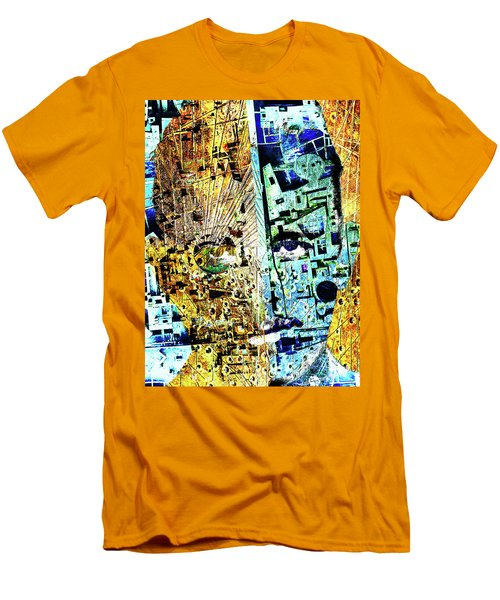 Men's T-Shirt (Slim Fit) featuring the painting Dillinger by Tony Rubino