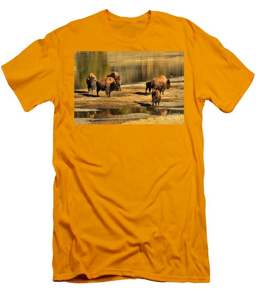 Men's T-Shirt (Slim Fit) featuring the photograph Discussing The River Crossing by Adam Jewell
