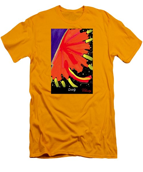 Men's T-Shirt (Slim Fit) featuring the painting Dog by Clarity Artists