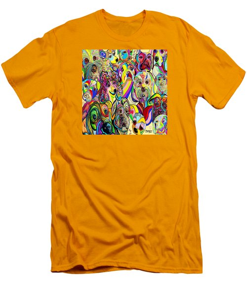 Dogs Dogs Dogs Men's T-Shirt (Slim Fit) by Eloise Schneider