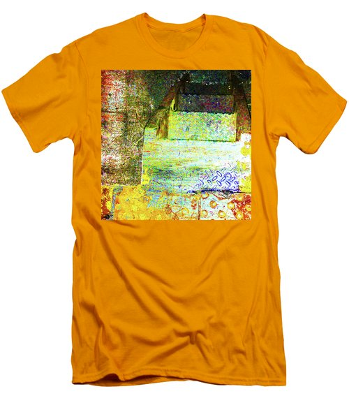 Men's T-Shirt (Slim Fit) featuring the mixed media Down by Tony Rubino