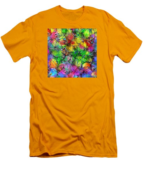 Dream Colored Leaves Men's T-Shirt (Slim Fit) by Klara Acel