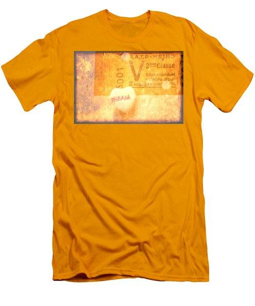 Men's T-Shirt (Slim Fit) featuring the photograph Dream Ticket by Toni Hopper