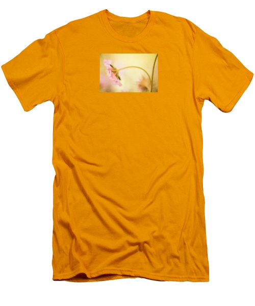 Men's T-Shirt (Slim Fit) featuring the photograph Dreamy Pink Flower by Bonnie Bruno