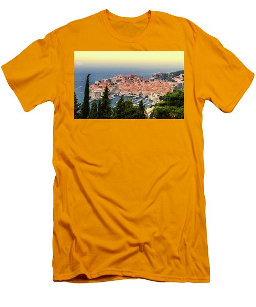Dubrovnik Old City On The Adriatic Sea, South Dalmatia Region, C Men's T-Shirt (Athletic Fit)