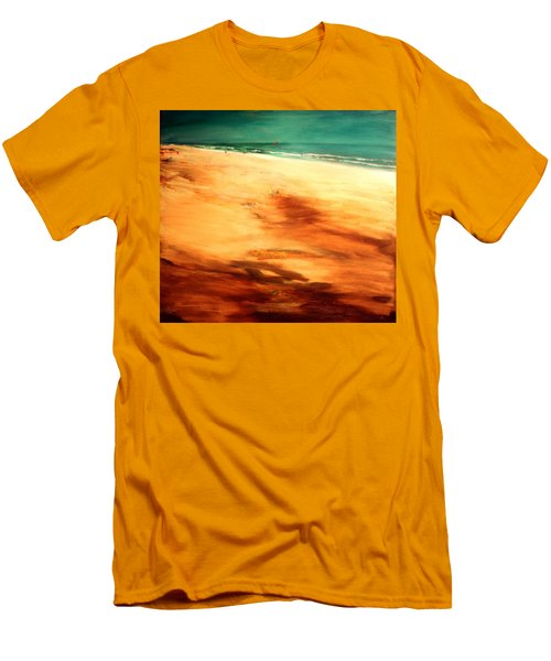 Men's T-Shirt (Slim Fit) featuring the painting Dune Shadows by Winsome Gunning