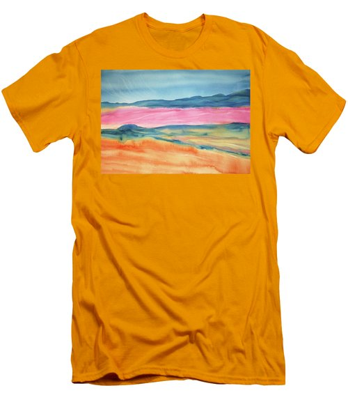 Men's T-Shirt (Slim Fit) featuring the painting Dunes by Ellen Levinson