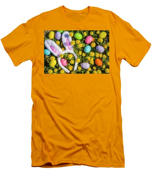 Men's T-Shirt (Slim Fit) featuring the photograph Easter Bunny Ears by Teri Virbickis