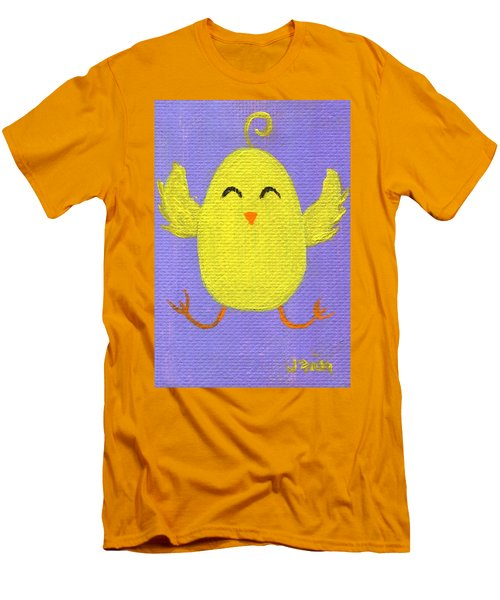 Men's T-Shirt (Athletic Fit) featuring the painting Easter Chicky by Jamie Frier