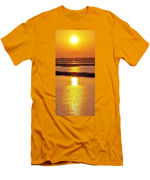Men's T-Shirt (Slim Fit) featuring the photograph Easter Sunset Southwest Louisiana by John Glass