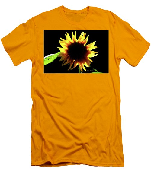 Men's T-Shirt (Athletic Fit) featuring the digital art Eclipse Of The Sunflower by Trina Ansel