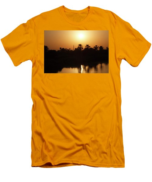 Men's T-Shirt (Athletic Fit) featuring the photograph Egyptian Sunset by Silvia Bruno