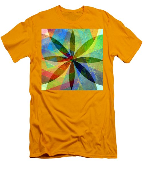 Men's T-Shirt (Athletic Fit) featuring the painting Eight Petals by Michelle Calkins