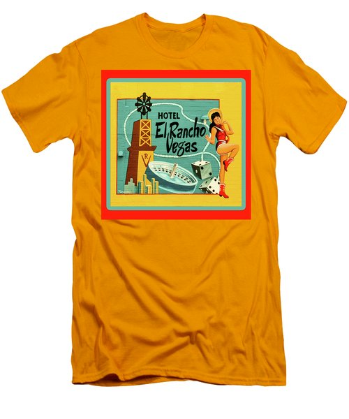 Men's T-Shirt (Slim Fit) featuring the photograph El Rancho by Jeff Burgess