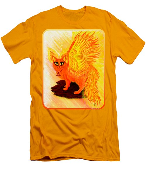 Elemental Fire Fairy Cat Men's T-Shirt (Slim Fit) by Carrie Hawks