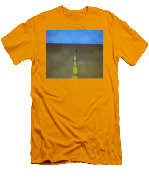 Men's T-Shirt (Slim Fit) featuring the painting End Of The Line by Thomas Blood