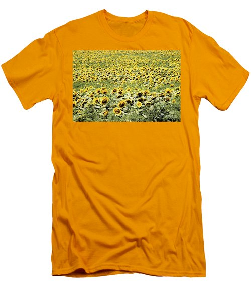 Endless Sunflowers Men's T-Shirt (Athletic Fit)
