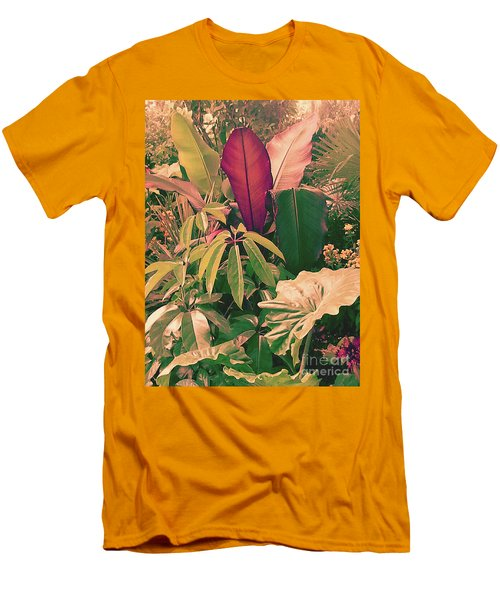 Men's T-Shirt (Slim Fit) featuring the photograph Enlightened Jungle by Rebecca Harman