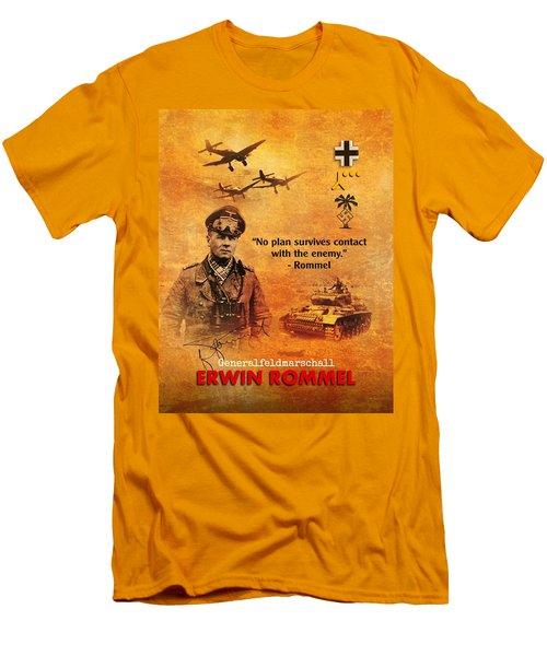 Erwin Rommel Tribute Men's T-Shirt (Athletic Fit)