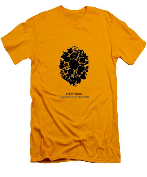 Men's T-Shirt (Slim Fit) featuring the digital art Every Book A Garden by Asok Mukhopadhyay