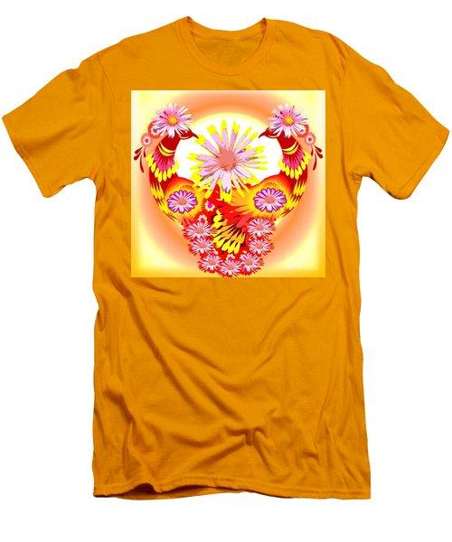 Exotic Peacocks Men's T-Shirt (Slim Fit) by Belinda Threeths