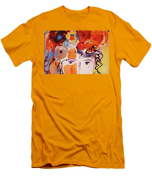 Eyes And Flowers Men's T-Shirt (Slim Fit) by Amara Dacer