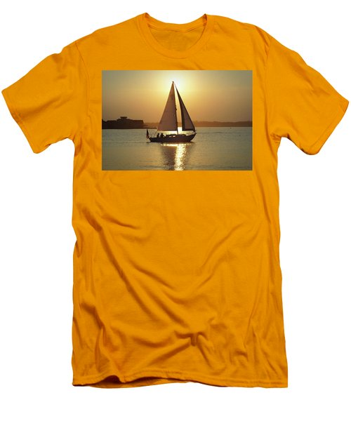 Fading Sun Men's T-Shirt (Athletic Fit)