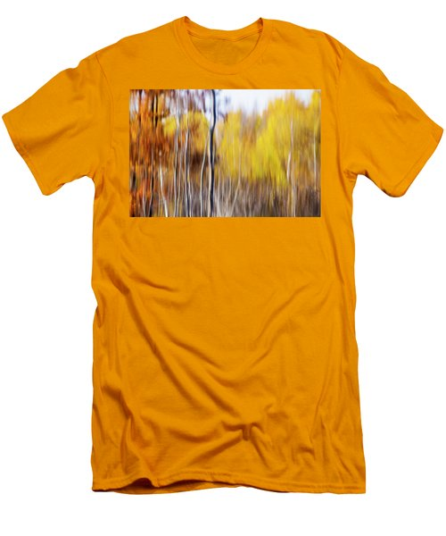 Men's T-Shirt (Slim Fit) featuring the photograph Fall Abstract by Mircea Costina Photography