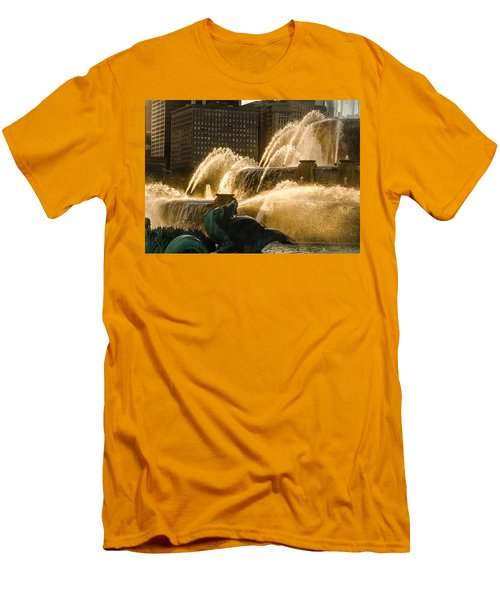 Fall Fountain Men's T-Shirt (Athletic Fit)