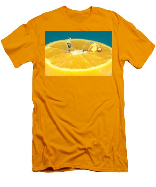 Farmers On Orange Men's T-Shirt (Athletic Fit)