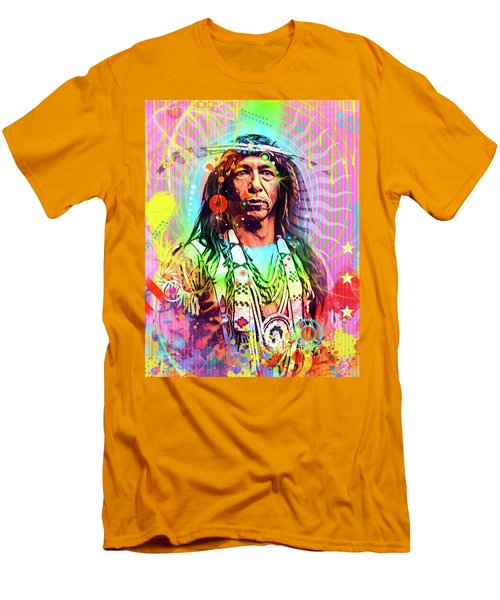 Feather Chief Men's T-Shirt (Slim Fit) by Gary Grayson