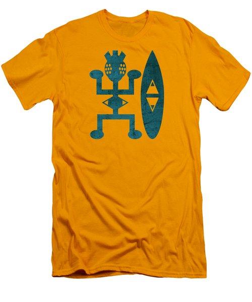 Female Blue Men's T-Shirt (Athletic Fit)
