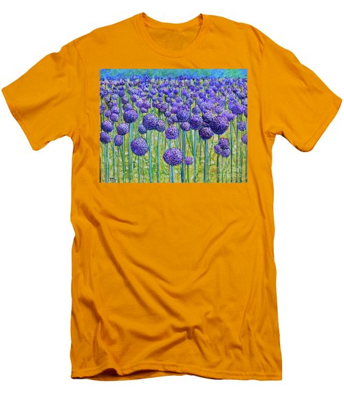 Field Of Allium Men's T-Shirt (Athletic Fit)