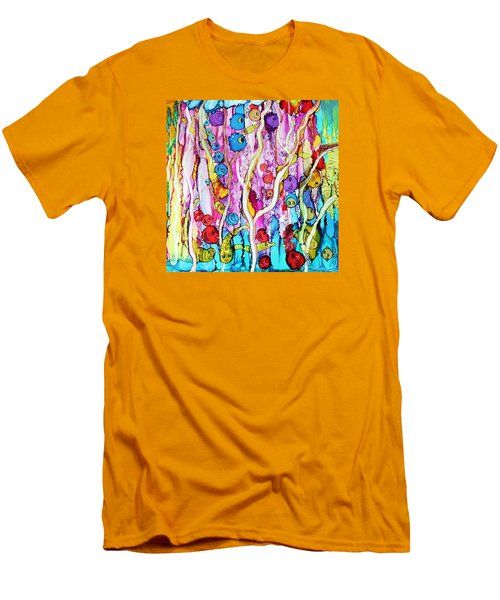Men's T-Shirt (Slim Fit) featuring the painting Finding Nemo by Suzanne Canner