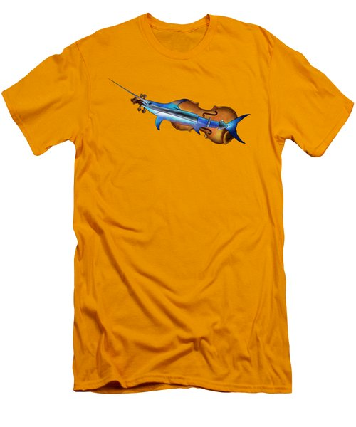 Fisholin V1 - Instrumental Fish Men's T-Shirt (Slim Fit) by Cersatti