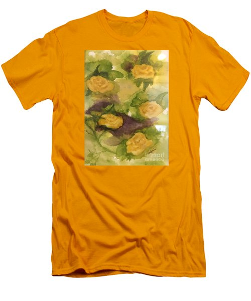 Five Yellow Roses Men's T-Shirt (Slim Fit) by Lucia Grilletto