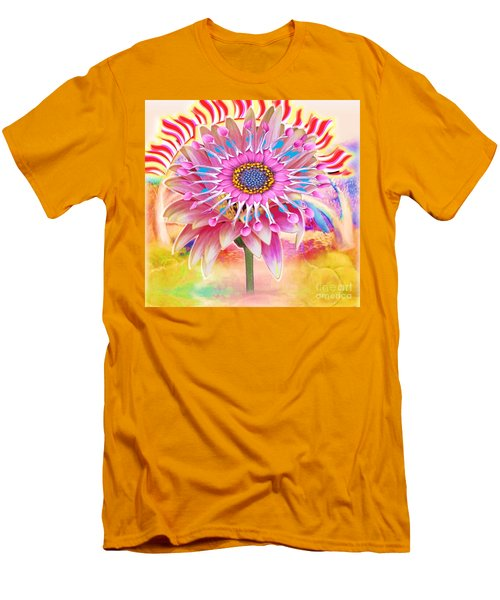Flaming Sunrise Men's T-Shirt (Slim Fit) by Belinda Threeths