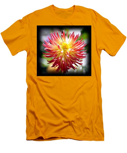 Men's T-Shirt (Athletic Fit) featuring the photograph Flaming Beauty by AJ Schibig