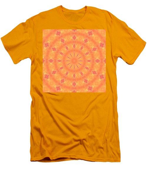 Men's T-Shirt (Athletic Fit) featuring the digital art Flaming Sun by Elizabeth Lock