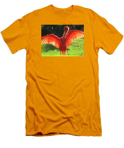 Flamingo Backlit Men's T-Shirt (Athletic Fit)