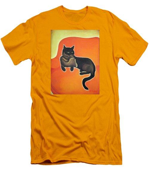 Floating Bebe Men's T-Shirt (Slim Fit) by Denise Fulmer